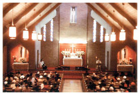 First Mass in new church, Easter Sunday, 1953